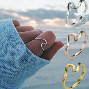 Wave Ring Bohemian Copper Gold Plated